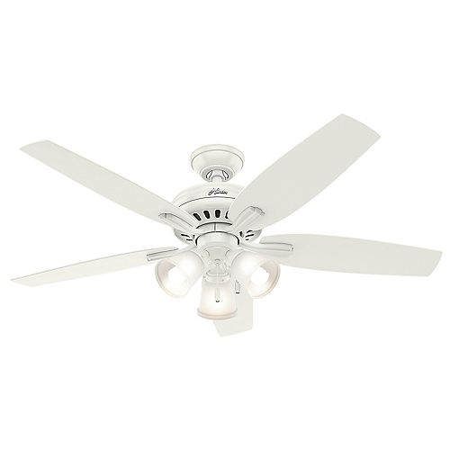 Newsome 52-inch  White 3-light Ceiling Fan