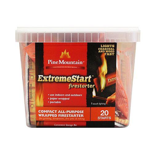 Pine Mountain Allume Feu Extremestart - 20 Allumages