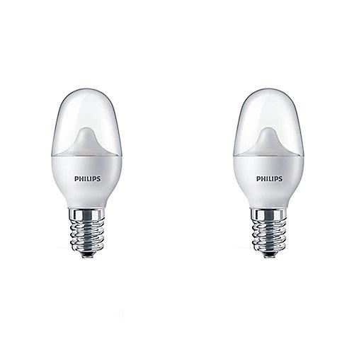 7W Night Light Soft White (2700K) Frosted LED Light Bulb (2-Pack)