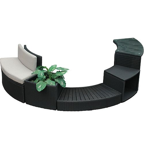 Spa Surround 5-Piece Round Furniture Set