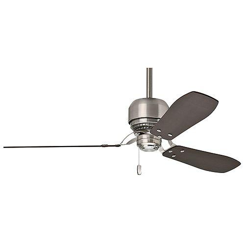 Tribeca 52-inch Indoor Brushed Nickel Ceiling Fan