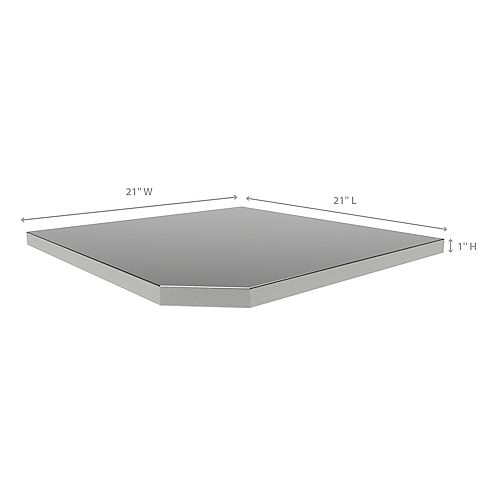 Bold Series and Performance 2.0 Series Corner Stainless Steel Worktop