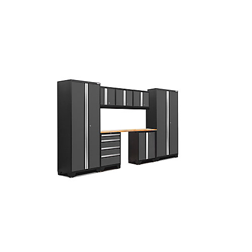 Ensemble de 8 éléments Bold de NewAge Products - Gris (LWB, LWWT, 72 po BAM)