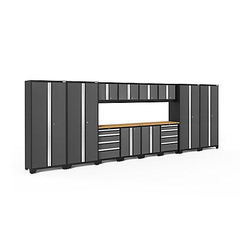 Ensemble de 14 éléments Bold de NewAge Products (2x LWT, 2x LWB, 2x 48 po BAM) - Gris