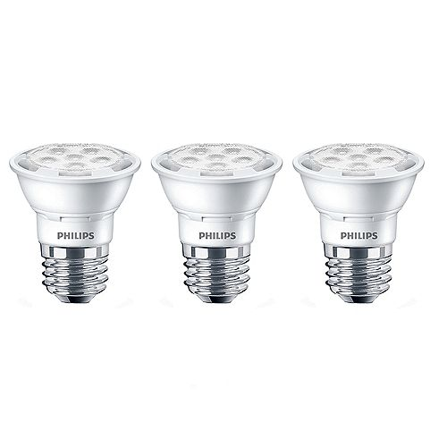 50W Equivalent Daylight (5000K) PAR16 LED Light Bulb (3-Pack)