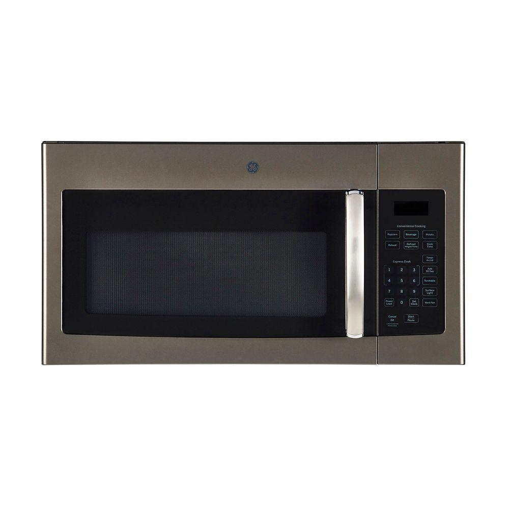 GE 30 pouces W 1,6 Cu. Ft. au-dessus de la gamme Micro-ondes dans l'ardoise