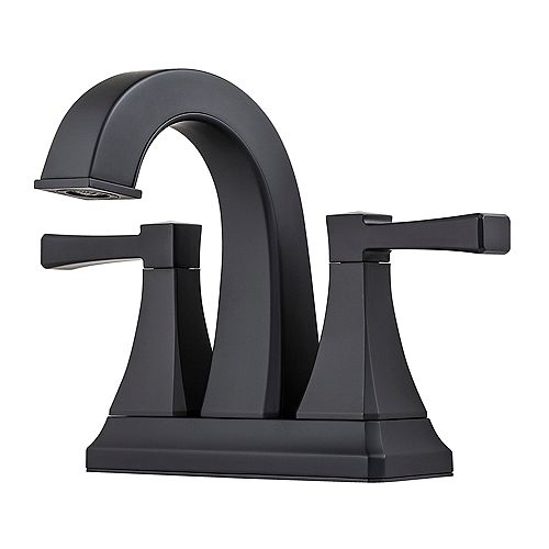 Halifax Centerset 4-inch 2-Handle Mid Arc Bathroom Faucet with Lever Handles