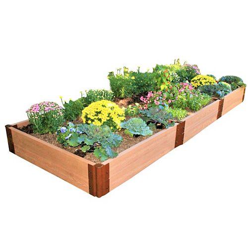 Jardinière surélevée avec 2 po de profondeur, 4 pi x 12 pi x 11 po, Classic Sienna