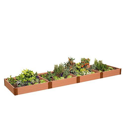 Lit de jardin surélevé classique Sienna sans outils, profil 4  pi x 16 pi  x 11 po