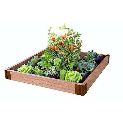 Lit de jardin surélevé Classic Sienna sans outils, profil 4  pix 4 pi x 5.5  po- 2 po