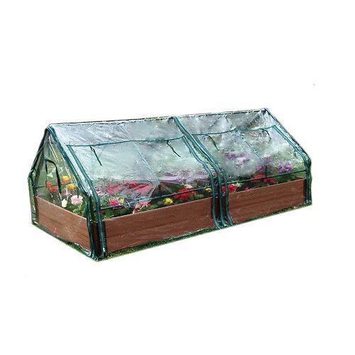 Jardin surélevé 2in 4x8ft 2 Level c/w 2 PVC Greenhouse