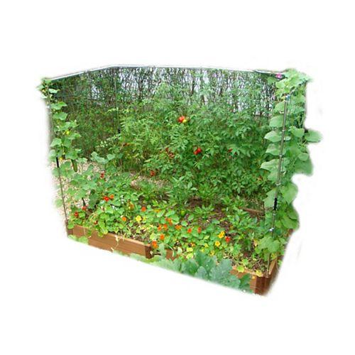 Jardin surélevé 2in 4x8ft 2 Level c/w 2 Système de treillis mural pour les légumes