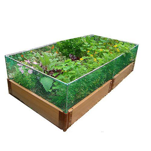 Jardin surélevé 2in 4x8ft 2 Level c/w Animal Barrier