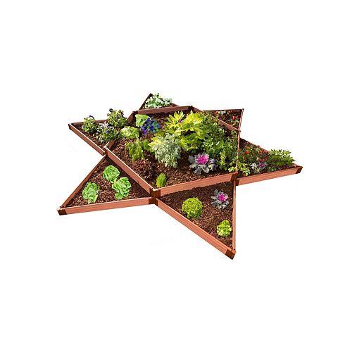 Lit de jardin surélevé Classic Sienna Garden Star 12 pox 12po x 11 po- profil 2po