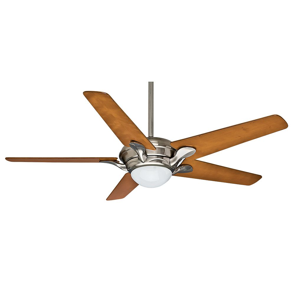 Casablanca Bel Air 56-inch  Brushed Nickle Indoor Ceiling Fan with 4 speed wall-mount control