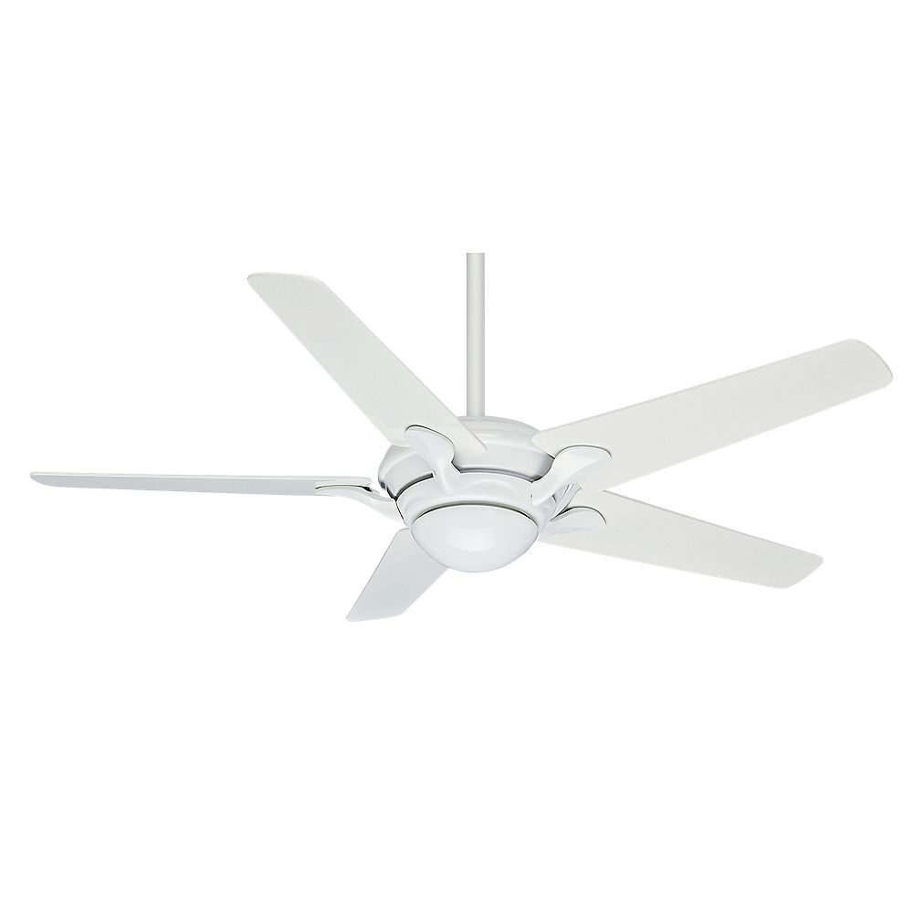 Casablanca Bel Air 56-inch Snow White Indoor Ceiling Fan with 4 speed wall-mount control