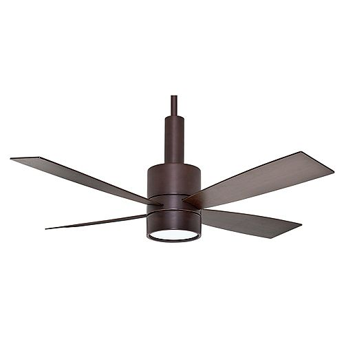 Casablanca Casablanca Bullet 54 Inch Brushed Cocoa Indoor Ceiling Fan with 4 speed wall mount control