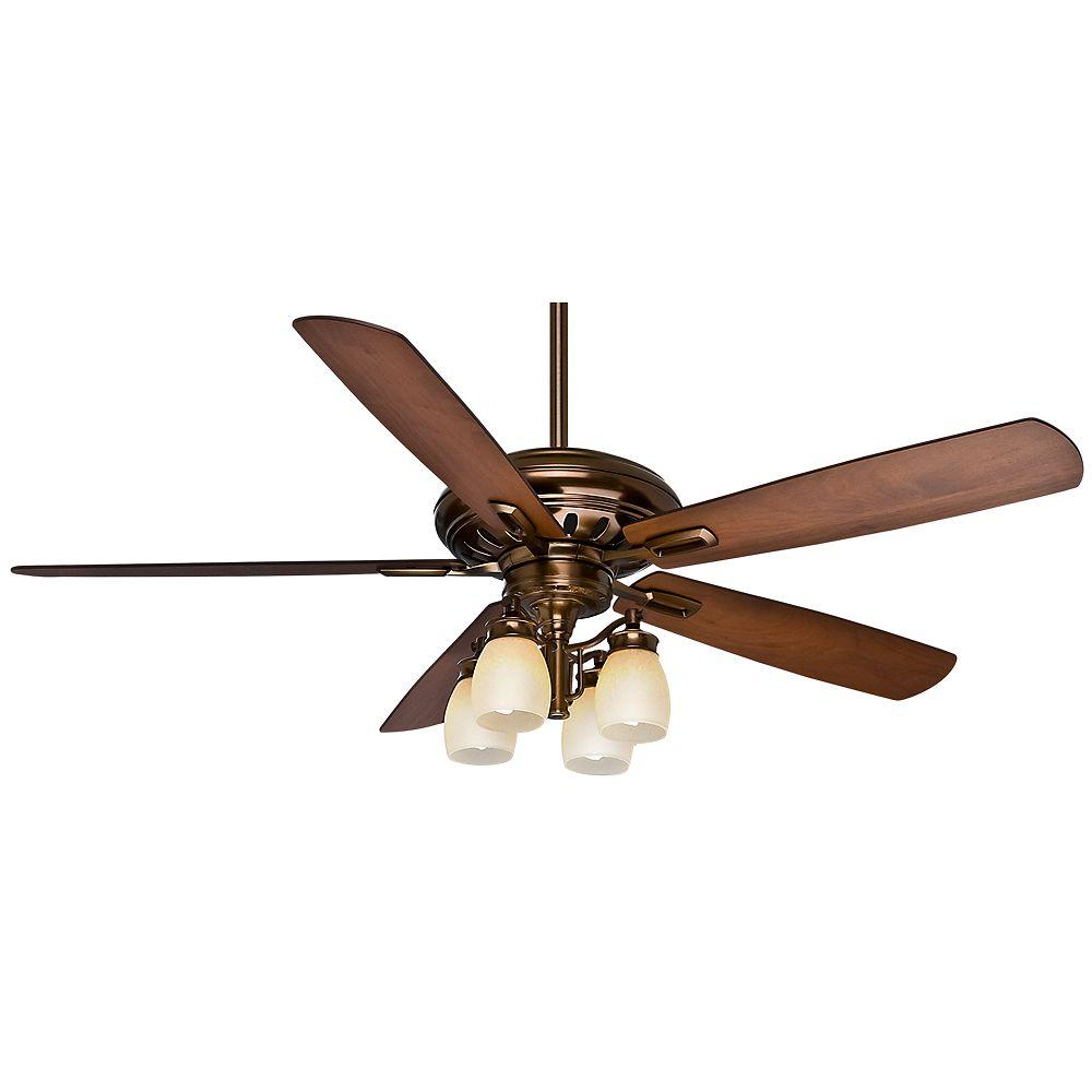 Casablanca Casablanca Holliston Gallery 60 Inch  Bronze Patina Indoor Ceiling fan with 4 speed wall control