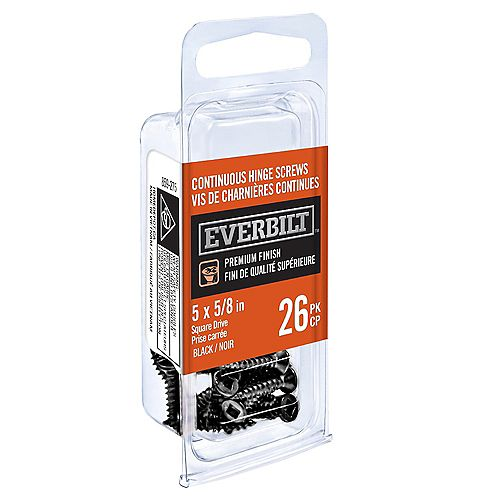 Everbilt N5 X 5/8 inch Cont Hge Screw Black (26-Pack)