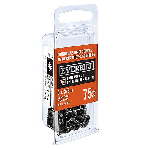 N5 X 5/8 inch Cont Hge Screw Black (75-Pack)