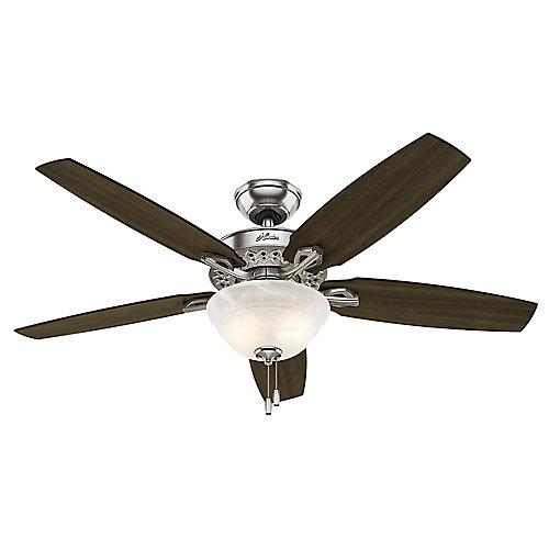 Hunter Heathrow 52po Nickel brossé Ventilateur de plafond intérieur
