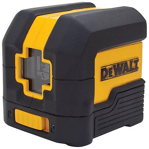 DEWALT 50 ft. Red Self-Leveling Cross Line Laser Level with (2) AA Batteries & Case