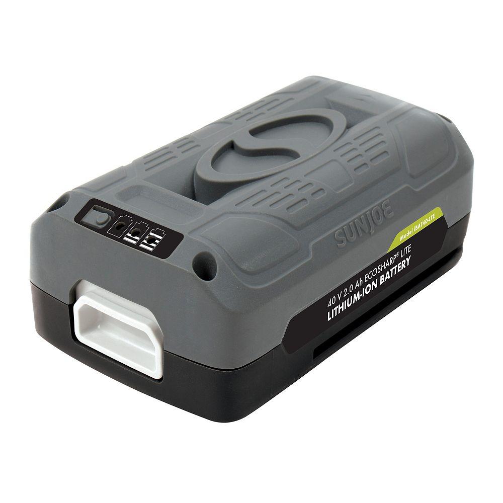 Snow Joe Batterie au lithium-ion 40V 2,0Ah EcoSharp<sup></sup> PRO iON Snow Joe + Sun Joe