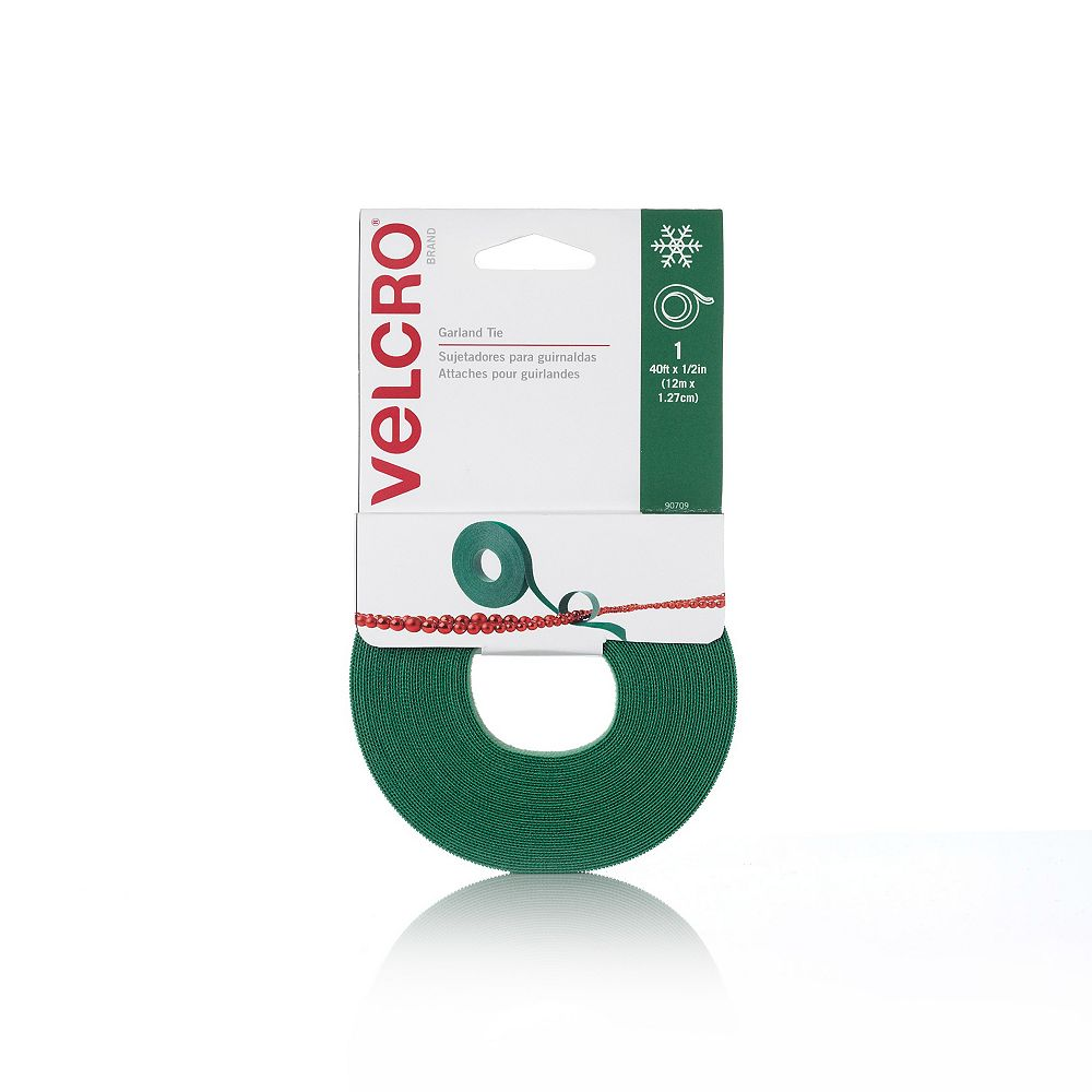 VELCRO 40 ft. x 1/2-inch Holiday Garland Tie