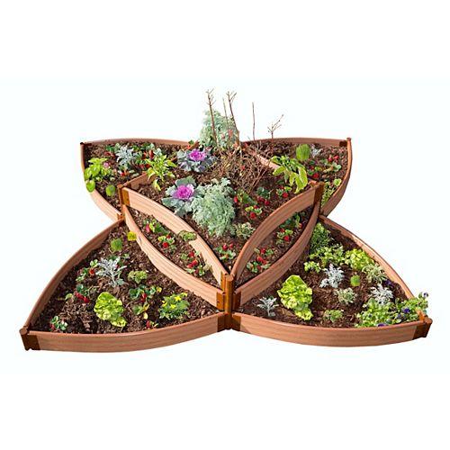 Lit de jardin surélevé sans outils Classic Sienna Versailles profil de 8 po x 8 po x 16,5 po, profil de 2 po