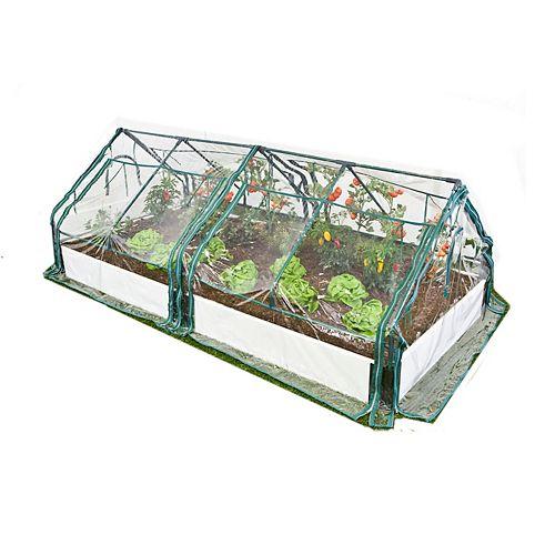 Jardin surélevé  Blanc 1in 4x8ft 1 Level c/w 2 PVC Serre