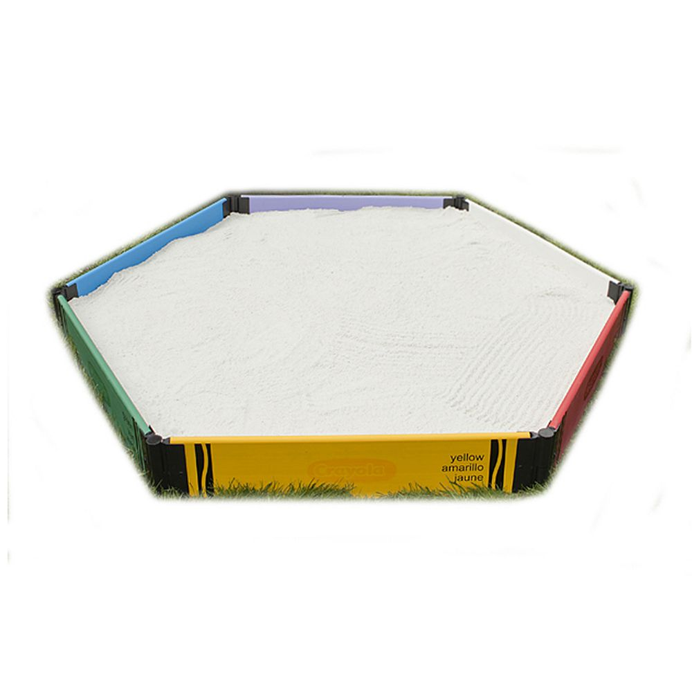 Frame It All Crayola Bac à sable hexagonal 1in 1 Level