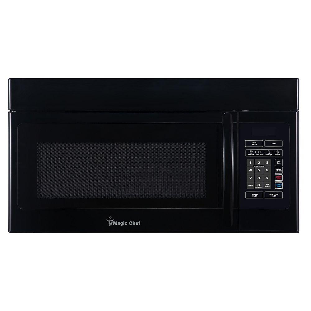 Magic Chef 1.6 Cu. Ft. Over the Range Microwave Black
