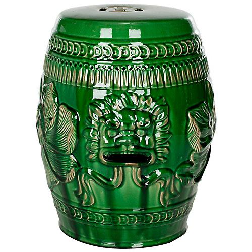 Tabouret Dragon Chinois en finition Vert