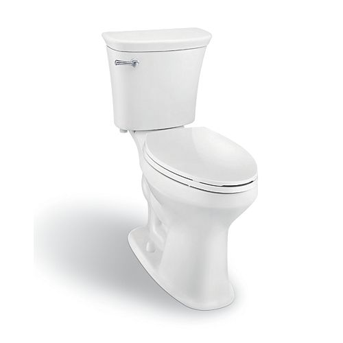 SuperClean 2-Piece Elongated Bowl Toilet in White