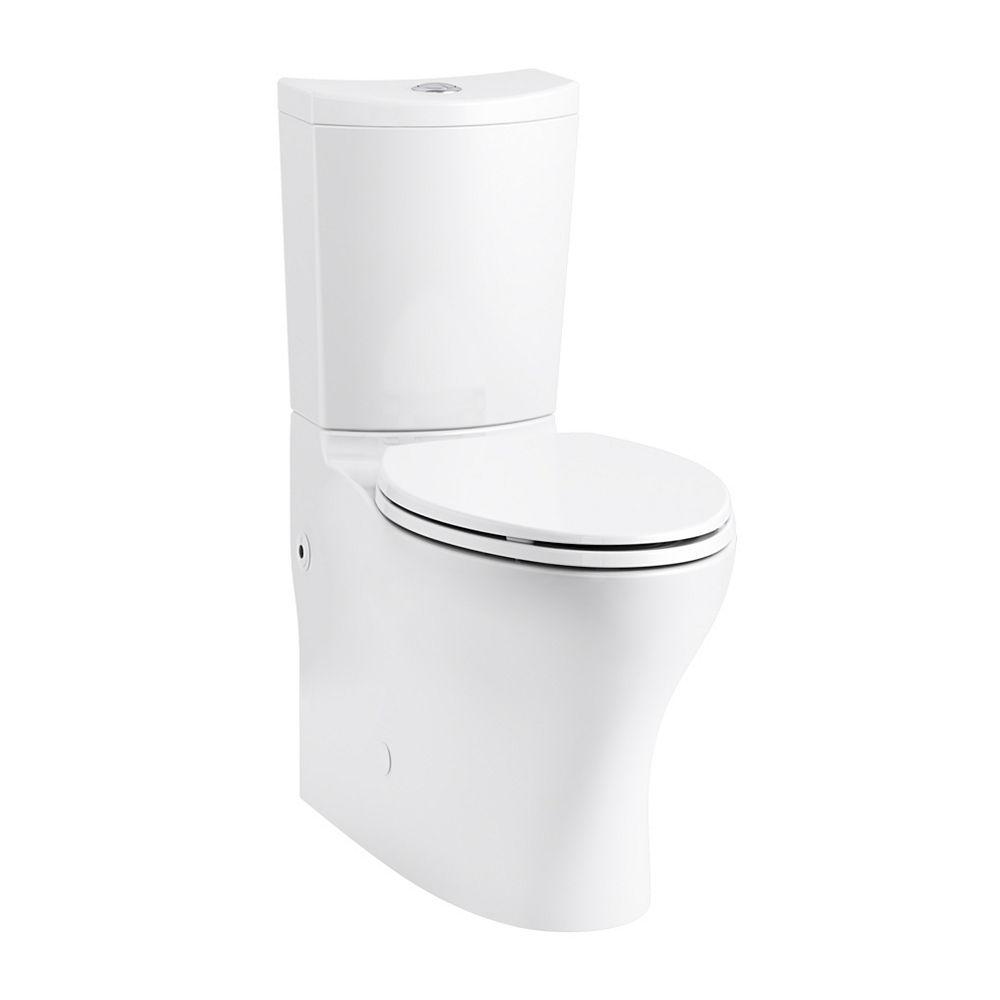 KOHLER Persuade Curv 2-Piece 1.6/1.0 GPF Dual Flush Elongated Toilet in White