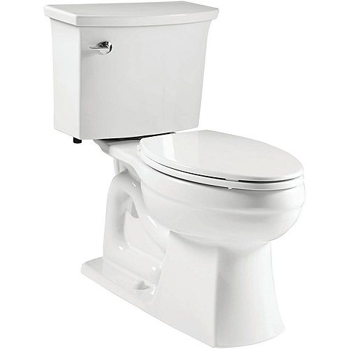 Elmbrook The Complete Solution 2-Piece 1.28 GPF Single Flush Elongated Toilet in White