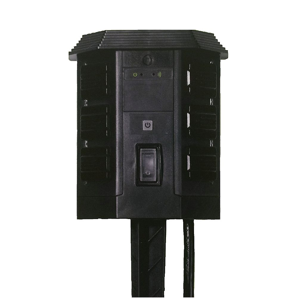 WiOn Outdoor Wi-Fi Yard Stake with 6-Outlet with Wireless Switch and Programmable Timer