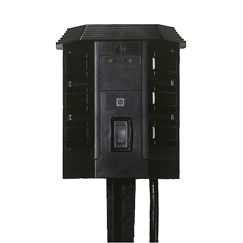 Outdoor Wi-Fi Yard Stake with 6-Outlet with Wireless Switch and Programmable Timer