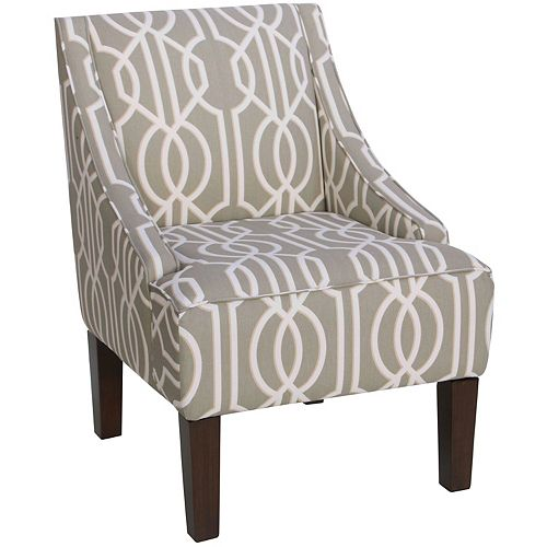 Swoop Contemporary Arm Chair Accent Chair with Geometric Pattern