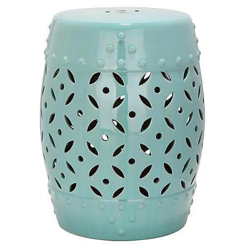 Tabouret de jardin Piéce de Treillage en finition Bleu-clair Gentil