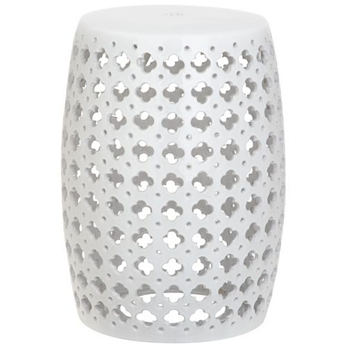 Safavieh Lacey Patio Stool in White