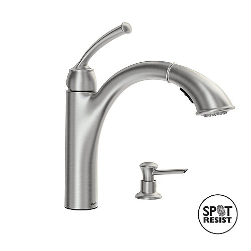 Sullivan Single-Handle Pull-out Sprayer Kitchen Faucet with Power Clean(TM) in Spot Resist Stainless