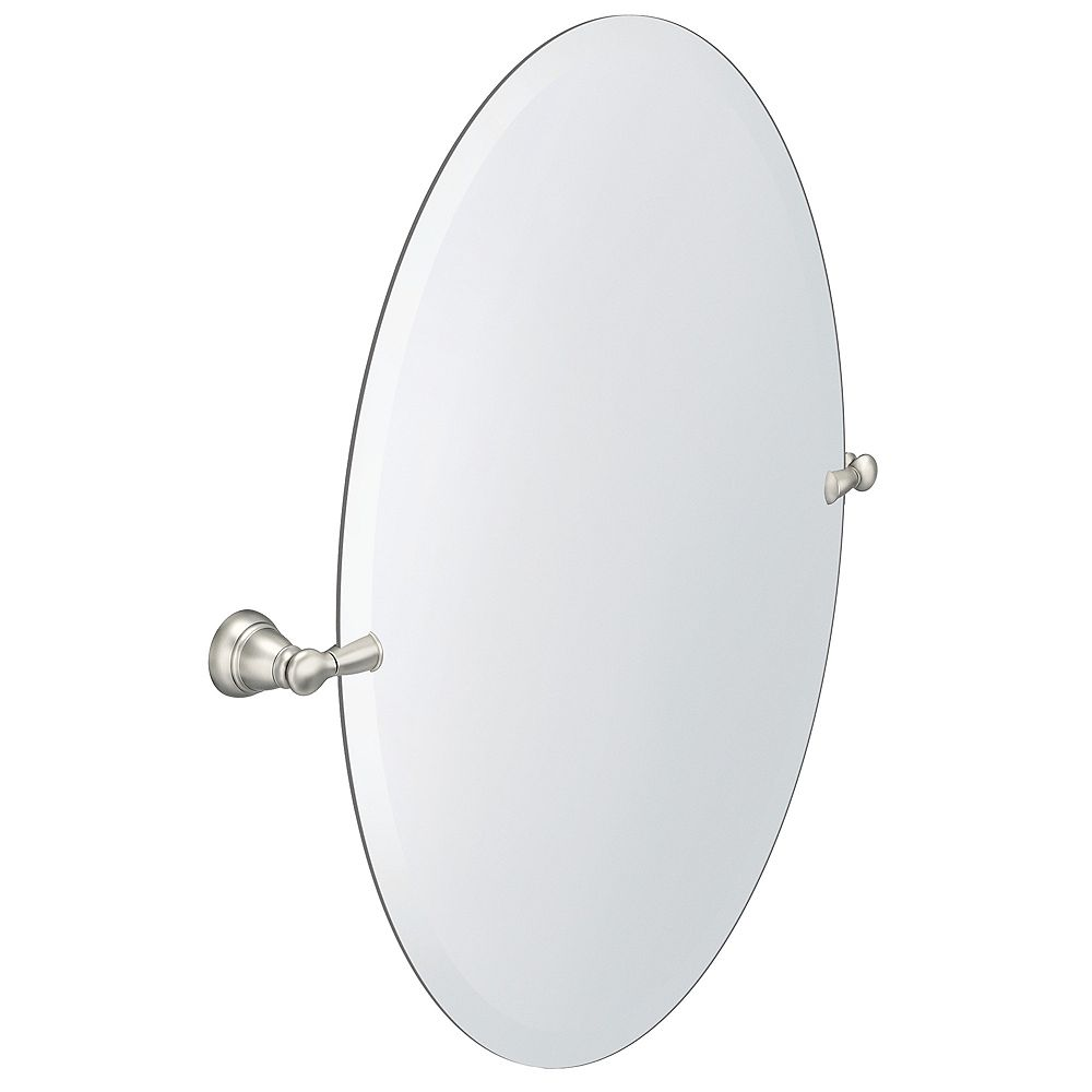 MOEN Banbury 26-inch x 23-inch Frameless Pivoting Wall Mirror in Brushed Nickel