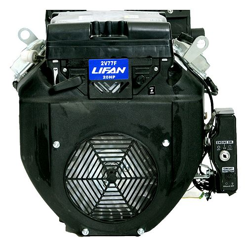 24 HP V-Twin Electric Start 1-inch Keyway Output Shaft Engine with 22 amp Charging System