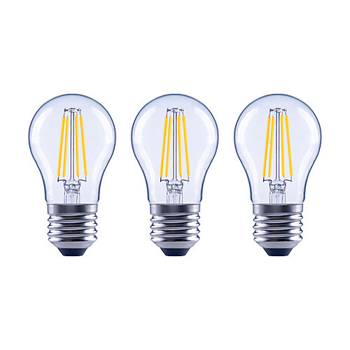 60W Equivalent Soft White (2700K) A15 Dimmable LED Light Bulb with Classic Glass Filament (3-Pack)