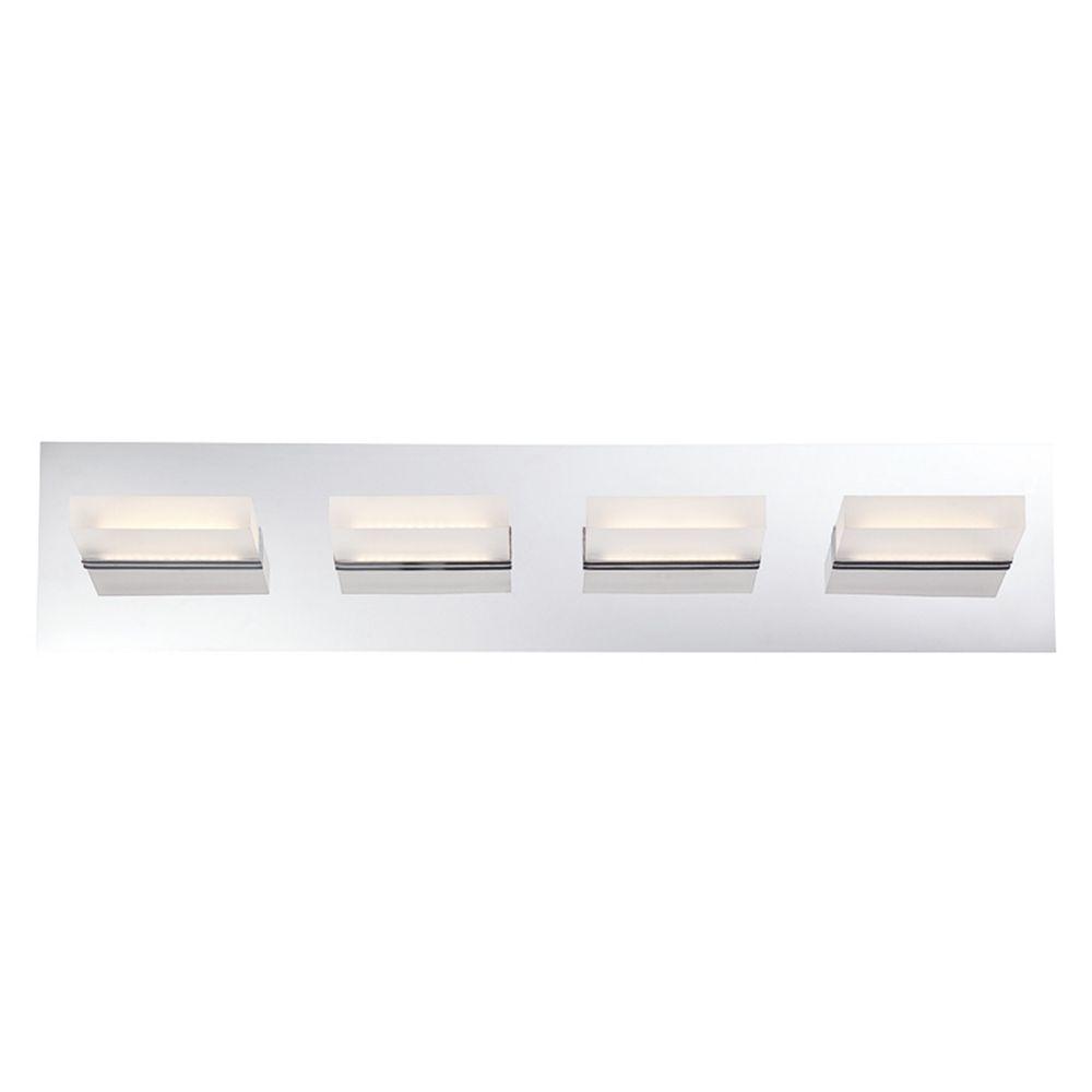 Hdg Olson Collection 4 Light Chrome Led Bath Bar Light The Home Depot Canada