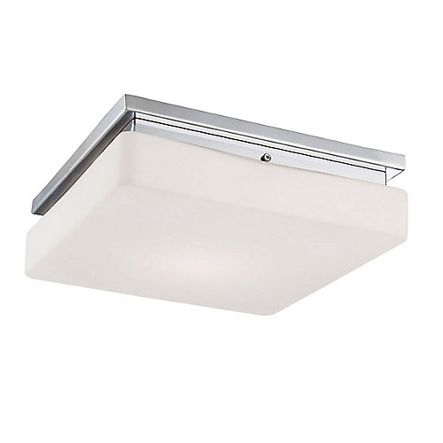 Ellsworth Collection 1-Light Integrated LED Flushmount Light Fixture in Chrome