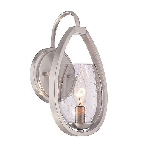 Fantini Collection 1-Light Satin Nickel Wall Sconce