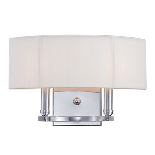 Kennedy Collection 2-Light Chrome Wall Sconce