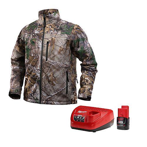 Ensemble de veste chauffante sans fil de style camouflage Realtree Xtra M12 - G